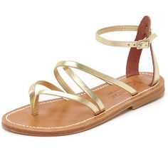K. Jacques Epicure Sandals (18,670 INR) ❤ liked on Polyvore featuring shoes, sandals, lame platine, k. jacques, leather sole sandals, leather sole shoes, leather footwear and k. jacques shoes