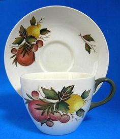 This is a Wedgwood, England cup and saucer in the Covent Garden pattern with…