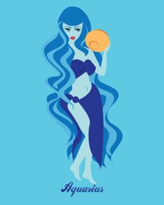 wavy Water-bearer Aquarius