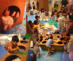 Mikiko Endo kids making crawling structures set up (blog has more but in Japanese)