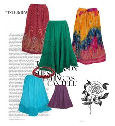 """Boho Gypsy Fashion Skirts"" by tarini-tarini ❤ liked on Polyvore featuring Forever 21"