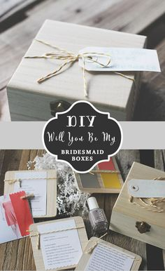 "As you know, we are huge fans of doing something a little extra special for our bridesmaids! We absolutely love sharing fun ideas like our next DIY will you be my bridesmaid box from Amanda Cherie. Taking the time to make all her bridesmaids feel ultra special by creating these little boxes to ask them to be in her wedding.  Each box included a little ""blurb"" on the big day, paint swatches to show their colors, a list of the bridesmaids, and lastly, a picture she printed out of their dress…"