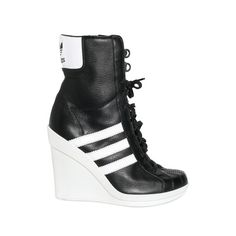 wholesale dealer a9cdd 25b08 Celebrities who wear, use, or own Adidas ObyO Jeremy Scott Leather Sneaker  Wedges. Also discover the movies, TV shows, and events associated with  Adidas ...