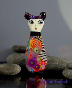 °° SUKI °° big focal lampwork glass bead by jasmin french