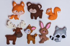 Woodland stuffed animals Felt brown bear toy Forest plush bear Nursery decor Easter Ornament Gift for kids Magnet Baby Gift Play Set Stuffed Animals, Stuffed Toys, Forest Animals, Woodland Animals, Baby Shower Gifts, Baby Gifts, Moldes Para Baby Shower, Kids Magnets, Fox Toys