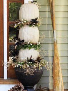 How to Make A Natural Pumpkin Topiary : Home Improvement : DIY Network