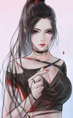 Pretty Anime Girl, Cool Anime Girl, Beautiful Anime Girl, Kawaii Anime Girl, Anime Art Girl, Chica Anime Manga, Manga Girl, Character Portraits, Character Art