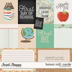 Honor Roll: Cards by Amber Shaw at Sweet Shoppe Designs