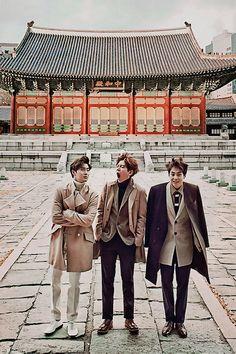 Exo - Suho, Baekhyun and Xiumin... LOL puppybaek