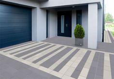 Znalezione obrazy dla zapytania kostka modernline Paving Stones, Tile Patterns, Outdoor Decor, Smart Moderns, Entrance, Paving Pattern, Architectural Inspiration, Modern, Concrete Color