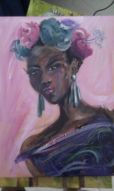 Pink girl by Cheryl Huntingford, I love this