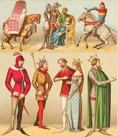 Vestimenta Medieval de la Alta Sociedad