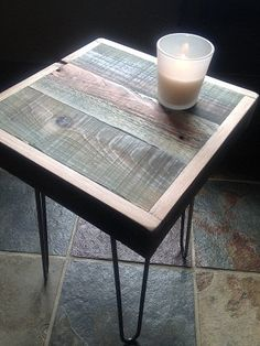 Barnwood Side Table  Industrial Furniture  Modern by thezenartist, $125.00