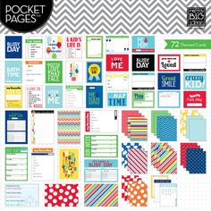 a kid's life pocket pages (journaling cards) from me & my big ideas.