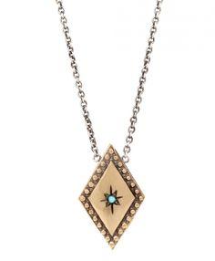 workhorse isabella lozenge turquoise necklace