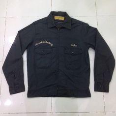 vintage 60s worker jacket talon zipper olive green S / M size by bintangclothingstore on Etsy https://www.etsy.com/listing/502503603/vintage-60s-worker-jacket-talon-zipper