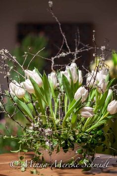 Tulpaner med blomsterkreatören Gunnar Kaj   blomsterverkstad