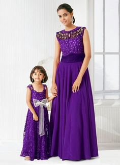 Cheap dresses breastfeeding, Buy Quality dress outside directly from China dress fine Suppliers: Indian Mother And Daughter Matching Prom Dresses 2015 Summer O Neck Purple Chiffon Long Shining Beaded Evening Pa Mom Daughter Matching Dresses, Mom And Baby Dresses, Girls Dresses, Cheap Dresses, Birthday Girl Dress, Birthday Dresses, Mother Daughter Fashion, Mother Daughters, Prom Dresses 2015