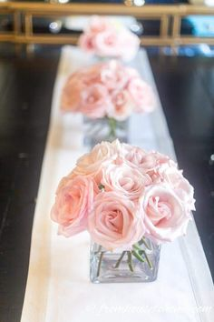 5 Elegant and Easy Floral Centerpieces (That Are Perfect For A Romantic Table) - Entertaining Diva @ From House To Home These easy floral pink centerpieces are GORGEOUS! So simple to make and perfect as table decor for Pink Flower Centerpieces, Bridal Shower Centerpieces, Centerpiece Ideas, Pink Table Decorations, Spring Wedding Centerpieces, Baby Shower Table Centerpieces, Party Table Centerpieces, Elegant Centerpieces, Table Rose