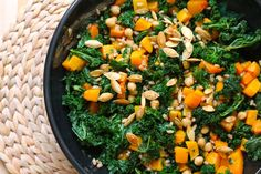 Kale & Butternut Squash Salad with Chickpeas & Wheat Berries   31 Delicious New Ways To Cook Butternut Squash