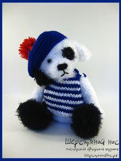 Пёс-матрос #teddybears #handmade #toys #teddybears #presents #knitting #dog
