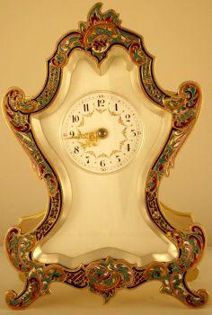 Polished Brass Mantel Clock, French Circa 1900