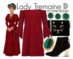 """""""Lady Tremaine"""" by leslieakay ❤ liked on Polyvore featuring Charlotte Olympia, TIBI, LALI, Steve Madden, Kate Spade, disney, disneybound and disneycharacter"""