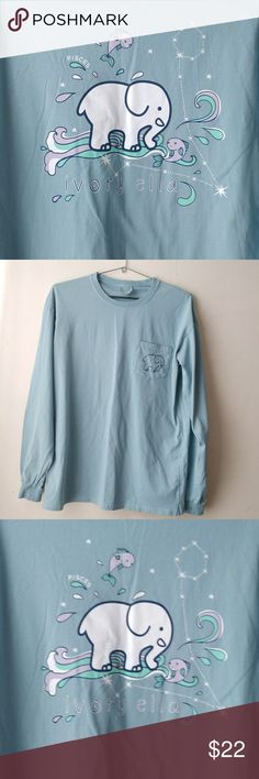 Ivory Ella Piscies Long Sleeve Tee Very good condition, minimal signs of wear. Ready to wear. 100% cotton. 22 inches pit to pit, 29.5 inches in length. Very comfy. Smoke free home. If you have any questions, please feel free to ask. Ella Ivory Tops Tees - Long Sleeve