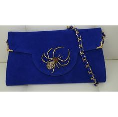 Be bold with this #beautiful royal blue handmade clutch  www.ananasa.com