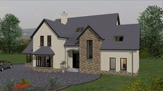 ts066 Dormer House, Dormer Bungalow, House Outside Design, Country House Design, House Designs Ireland, Architect House, Dream House Plans, House Layouts, House Goals