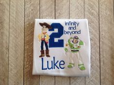 Toy story birthday shirt by SkiptoMyLouMyDear on Etsy 2nd Birthday Party For Boys, 2nd Birthday Shirt, Mickey Birthday, Toy Story Birthday, Third Birthday, Birthday Ideas, Toy Story Theme, Festa Toy Story, Toy Story Party