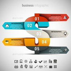 Business Infographic Template PSD, Vector EPS, AI #design Download: http://graphicriver.net/item/business-infographic/13743242?ref=ksioks