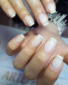 Classic French Manicure, Natural Nails, Nail Polish, Beauty, Nail Polishes, Cosmetology, Polish, Natural Looking Nails, Natural Color Nails