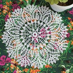 Openwork knitting Napkins
