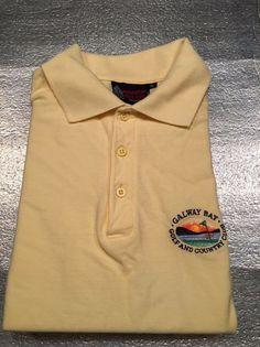 SHANDON IRELAND Golf Polo Shirt - Galway Bay Golf & CC Crest - Yellow - Size XL #ShandonIreland #PoloRugby