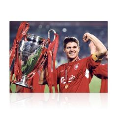 Steven Gerrard Signed Liverpool Photograph: Istanbul 2005 by exclusivememorabilia.com. $119.99. This superb 16 inch by 12 inch photograph was personally autographed by Steven Gerrard at an Exclusive Memorabilia signing session in Liverpool on September 26, 2011 2011. It shows Gerrard lifting the Champions League trophy after Liverpool's amazing comeback against AC Milan in Istanbul in 2005. Liverpool were 3-0 down at half time, but, inspired by a heroic captain's p...