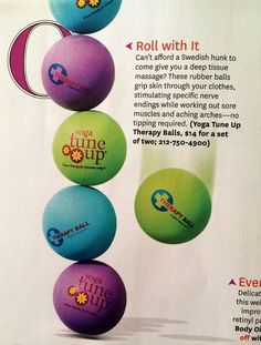 DrDawnDPT's favorite #yogatuneup #balls are in #Oprah's #favoritethings!!! You can get them at Kinesis in #CulverCity!! (310) 745-4275 @Jill Miller