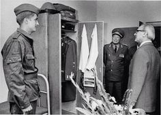 Honecker inspecting the soldiers garrison