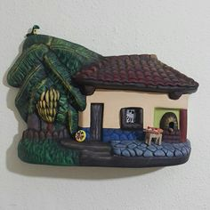 Casitas Polymer Project, Wooden House, Fairy Houses, Online Art, Ideas Para, Magnets, Pasta, Clay, Diy Crafts