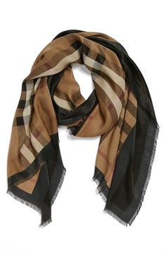 Burberry 'Haymarket Check' Scarf available at #Nordstrom