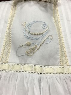 Hand Embroidery For Beginners Types Of Embroidery, Japanese Embroidery, Hand Embroidery Patterns, Ribbon Embroidery, Embroidery Stitches, Machine Embroidery, Butterfly Embroidery, Baptism Gown, Christening Gowns