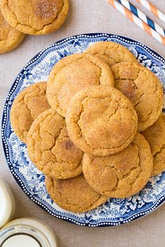 Two of the worlds best cookies in one! Pumpkin cookies meet snickerdoodles and they are out of this world delicious!