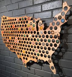 United States of Beer Caps. - http://noveltystreet.com/item/10929/