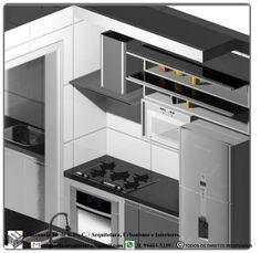 Mobiliário: Cozinha. Software utilizado: Promob.