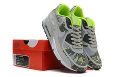 official photos 31890 19ca9 Beau Nike Air Max 90 Premium Bande Camo Grise VertJaune Blanche SombreBleu  Chaussures Homme France Pas Cher
