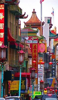 Chinatown in San Francisco, California •