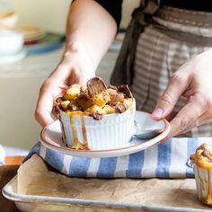 Dessert for Two--- Chocolate Caramel Bread Pudding recipe that serves two. Dessert for Two