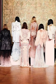 Givenchy - love the positive, negative space of these garments (minus the fur, of course - I think that's fur?)