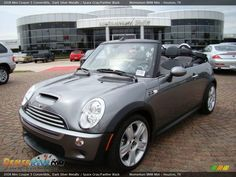 2008 Mini Cooper S Convertible Dark Silver Metallic / Space Gray/Panther Black Photo #1