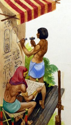 Egyptian picture writing (hieroglyphics).